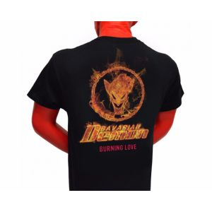 "T-SHIRT BLACK ""BURNING LOVE"